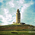 Tower Of Hercules La Coruna by Mary Machare
