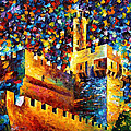 Tower - Palette Knife Oil Painting On Canvas By Leonid Afremov by Leonid Afremov