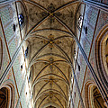 Towering Art - The Painted Ceiling Above The Nave Of Uppsala Cathedral - Sweden by David Hill