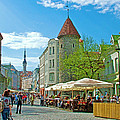 Towers As Gateways To Old Town Tallinn-estonia by Ruth Hager
