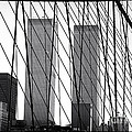 Towers From The Brooklyn Bridge 1990s by John Rizzuto