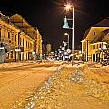 Town In Deep Snow On Christmas  by Brch Photography