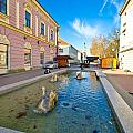 Town Of Bjelovar Square Fountain by Brch Photography