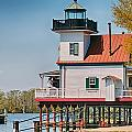 Town Of Edenton Roanoke River Lighthouse In Nc by Alex Grichenko