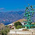 Town Of Razanac With Velebit Background by Brch Photography