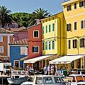 Town Of Veli Losinj Colorful Waterfront by Brch Photography