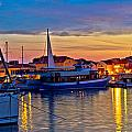 Town Of Vodice Harbor And Monument by Brch Photography