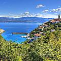 Town Of Vrbnik Green Landscape by Brch Photography