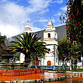 Town Square In Penipe Ecudor by Al Bourassa