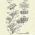 Toy Building Brick 1961 Patent Art by Prior Art Design
