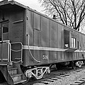 Tpw Rr Caboose Black And White by Thomas Woolworth