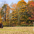 Tractor In Autumn New England Field by Ken Brown