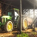 Tractor In The Morning by Debra and Dave Vanderlaan