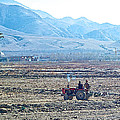 Tractor Used In Farming Along The Road To Shigatse-tibet by Ruth Hager