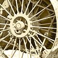 Tractor Wheel by Debbie Hart