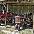 Tractors In The Shed by Victor Montgomery
