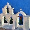 Traditional Belfry In Oia Town by George Atsametakis