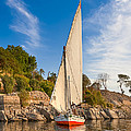 Traditional Egyptian Sailboat On The Nile by Mark E Tisdale