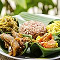 Traditional Vegetarian Curry With Rice In Bali Indonesia by Jacek Malipan