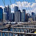 Traffic On A Bridge, Brooklyn Bridge by Panoramic Images