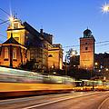 Traffic On The Solidarity Avenue In Warsaw by Artur Bogacki