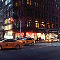 Traffic On The Street At Night, 23rd by Panoramic Images