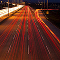 Traffic Trails At Twilight by Andrew Soundarajan