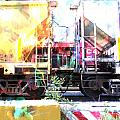 Train Abstract Blend 1 by Anita Burgermeister