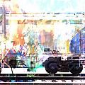 Train Abstract Blend 4 by Anita Burgermeister