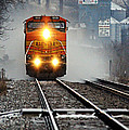 Train At Alma Wi by Larry Ricker