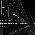 Train At Night by Karl Greeson