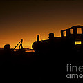 Uyuni Train Cemetery Sunset Bolivia by James Brunker