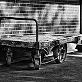 Train Depot Baggage Cart In B/w by Greg Jackson