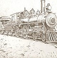 Train Drawing by Robert Crandall