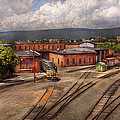 Train - Entering The Train Yard by Mike Savad