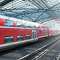 Train In A Modern Station, Berlin by Cirano83