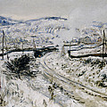 Train In The Snow At Argenteuil by Claude Monet