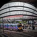 Train Pulling In by Geoff Evans