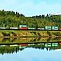 Train Reflecting by Benjamin Yeager