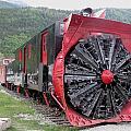 Train Snowplow by Steven Parker