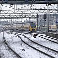 Train Station Zwolle In Winter Netherlands by Ronald Jansen