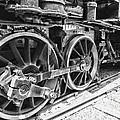 Train - Steam Engine Wheels - Black And White by Paul Ward