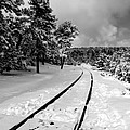 Train Tracks In The Snow by Laurel Powell