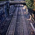 Train Tracks Into Town by Jill Battaglia