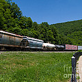 Train Watching At The Horseshoe Curve Altoona Pennsylvania by Amy Cicconi