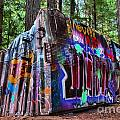 Train Wreck Art In The Forest by Adam Jewell