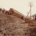 Train Wreck, C1900 by Granger