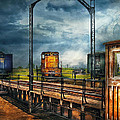 Train - Yard - On The Turntable by Mike Savad