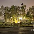 Trains At Night by Kari Yearous