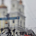 Tram On The  Street 1 by Zoriy Fine